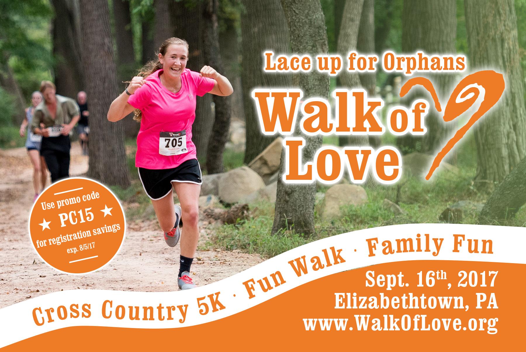 2017 Walk of Love Post Card