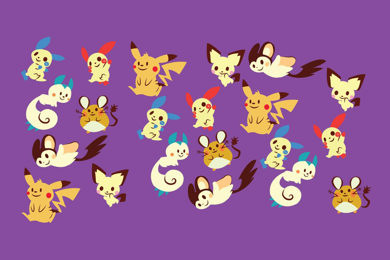 Electric Pokemon Pattern