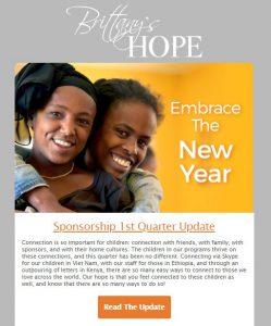 2018 First Quarter Sponsorship Update - Email Design